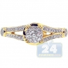 14K Yellow Gold 0.70 ct Diamond Infinity Vintage Engagement Ring