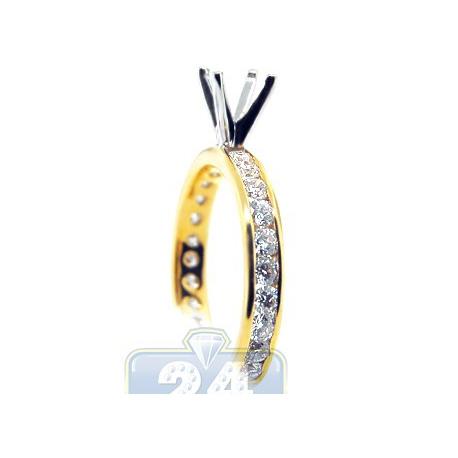 14K Two Tone Gold 1.01 ct Diamond Custom Made Engagement Ring Setting