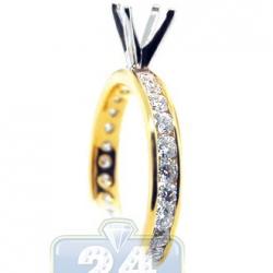 14K Two Tone Gold 1.01 ct Diamond Engagement Ring Setting