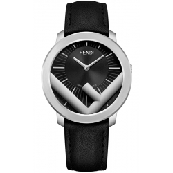 F710011011 Fendi Run Away 41mm Mens Watch Black Dial Steel Case