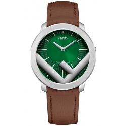 F710018021 Fendi Run Away 41mm Green Dial Mens Watch