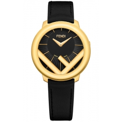 F710431011 Fendi Run Away 36mm Yellow Gold Black Dial Watch