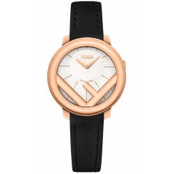 F710524011 Fendi Run Away 28mm Rose Gold Case White Dial Watch