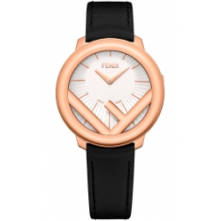 F710534011 Fendi Run Away 36mm Rose Gold Case White Dial Watch