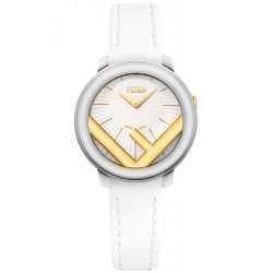 F710124041 Fendi Run Away 28mm Two Tone White Strap Watch