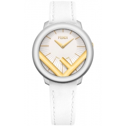 F710134041 Fendi Run Away 36mm Two Tone White Strap Watch