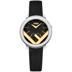 F710121011 Fendi Run Away 28mm Two Tone Black Dial Watch