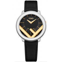 F710131011 Fendi Run Away 36mm Two Tone Black Dial Watch