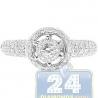 14K White Gold 0.66 ct Diamond Cluster Vintage Engagement Ring