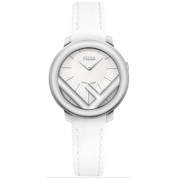 F710034041 Fendi Run Away 36mm Steel Case Womens White Watch