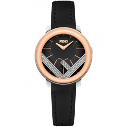 F710321011C0 Fendi Run Away 28mm Diamond Two Tone Gold Watch