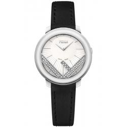 F710024011C0 Fendi Run Away 28mm Diamond White Dial Watch