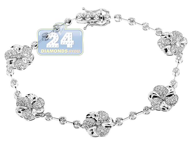 Tennis Bracelet 14k White Gold 2 01 Ct