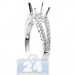 18K White Gold 0.39 ct Diamond Engagement Ring Setting