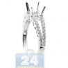 18K White Gold 0.39 ct Diamond Openwork Engagement Ring Setting