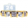 14K Yellow Gold 1.14 ct Mixed Cut Diamond Womens Band Ring