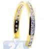 14K Yellow Gold 0.51 ct Channel Set Diamond Womens Band Ring