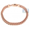 Solid 10K Rose Gold Franco Link Mens Bracelet 6 mm 9 Inches
