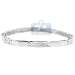 14K White Gold 1.03 ct Channel Set Diamond Womens Bracelet