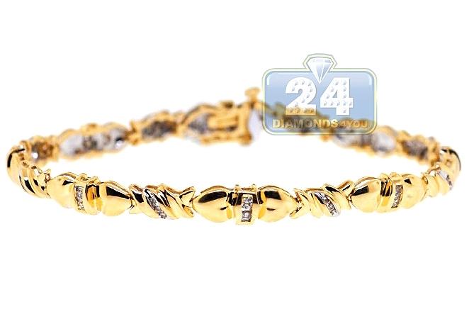 Link Bracelet 14k Yellow Gold 0 56 Ct