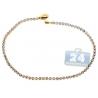 "Womens Diamond Tennis Bracelet 14K Yellow Gold 1.53 ct 2mm 7"""