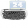 14K White Gold 0.58 ct Mixed Black Diamond Mens Band Ring