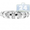 14K White Gold 0.70 ct Round Baguette Cut Diamond Womens Ring