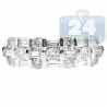 14K White Gold 0.92 ct Baguette Round Cut Diamond Womens Vintage Ring