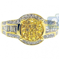 14K Yellow Gold 0.84 ct Sapphire Diamond Engagement Ring