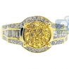 14K Yellow Gold 0.84 ct Sapphire Diamond Womens Engagement Ring