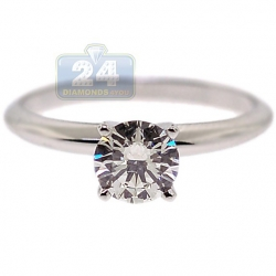 18K White Gold 0.71 ct Diamond Solitaire Womens Engagement Ring