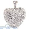 Womens Diamond Puff Heart Love Pendant 14K Yellow Gold 3.01ct