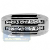 Black PVD 14K Gold 0.49 ct Round Cut Diamond Mens Slim Ring