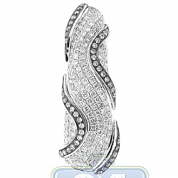 14K White Gold 1.66 ct Diamond Womens Oval Drop Pendant