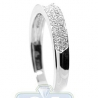 18K White Gold 0.26 ct 3 Row Diamond Womens Band Ring