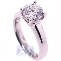 Platinum 2.01 ct Round GIA Diamond Solitaire Engagement Ring