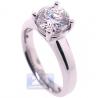 Platinum 2.01 ct Round Cut GIA Diamond Womens Solitaire Engagement Ring
