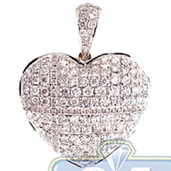 14K Yellow Gold 1.79 ct Diamond Womens Heart Pendant