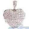 Womens Diamond Classic Heart Pendant 14K Yellow Gold 1.79ct