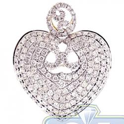 14K Yellow Gold 1.41 ct Diamond Heart Womens Pendant