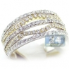 14K Two Tone Gold 1.05 ct Diamond Womens Openwork Band Ring