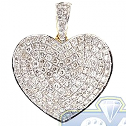 14K Yellow Gold 1.49 ct Diamond Classic Heart Pendant