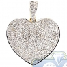 Womens Diamond Classic Heart Pendant 14K Yellow Gold 1.49ct