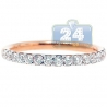 18K Rose Gold 0.60 ct Diamond Womens Stackable Band Ring