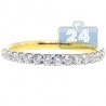 18K Yellow Gold 0.60 ct Diamond Womens Stackable Band Ring