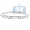 18K White Gold 0.60 ct Diamond Womens Stackable Band Ring