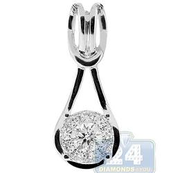 14K White Gold 0.53 ct Diamond Loop Womens Pendant