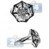 14K White Gold 0.50 ct Black Diamond Spider Mens Ring