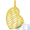 Womens Diamond Lined Heart Love Pendant 14K Yellow Gold 1.00ct
