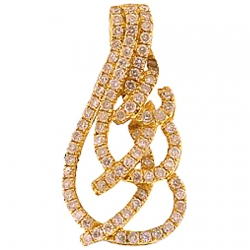 14K Yellow Gold 0.57 ct Diamond Womens Openwork Drop Pendant